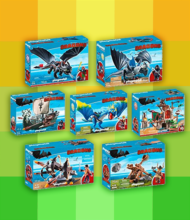 Playmobil  Set de 7 boîtes 9243 9244 9245 9246 9247 9248 9249 – Playmobil dragon