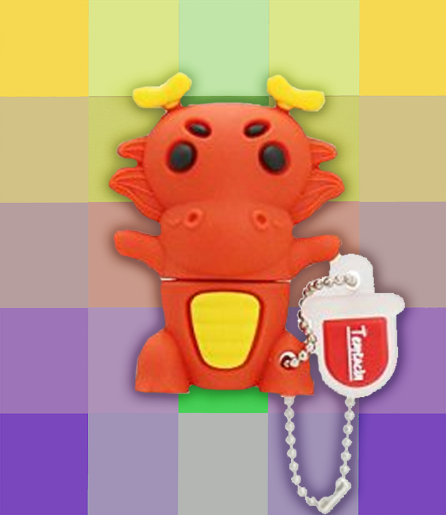 Clé USB Dragon rouge – Gadget Hi-tech